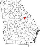 Glascock County in Georgia